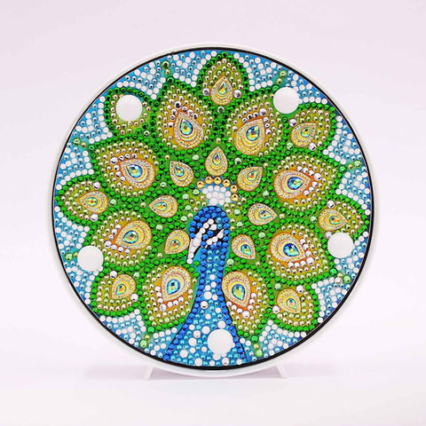 Peacock | LED Light | Diamond Painting - Treasure Studios Art