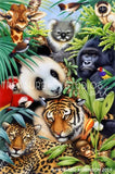 Magic Jungle No. 1  by Howard Robinson | Diamond Painting - Treasure Studios Art