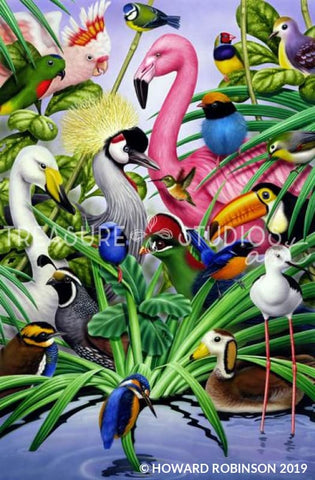 Animal Magic Birds :  by Howard Robinson | Diamond Painting - Treasure Studios Art