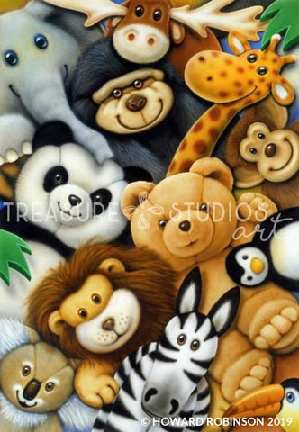 Softies Group Hug by Howard Robinson | Diamond Painting - Treasure Studios Art