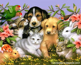 Loveable Pets by Howard Robinson | Diamond Painting - Treasure Studios Art