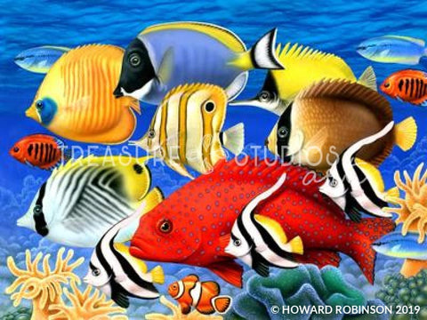 Coral Fish by Howard Robinson | Diamond Painting - Treasure Studios Art