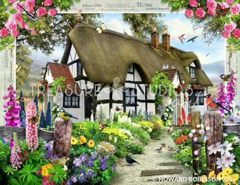 Rose Cottage by Howard Robinson | Diamond Painting - Treasure Studios Art