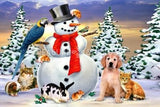 Snowman & Friends : by Howard Robinson | Diamond Painting - Treasure Studios Art