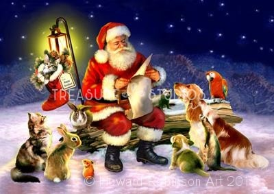 Santas List : by Howard Robinson | Diamond Painting - Treasure Studios Art