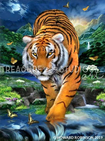 On the Prowl by Howard Robinson | Diamond Painting - Treasure Studios Art
