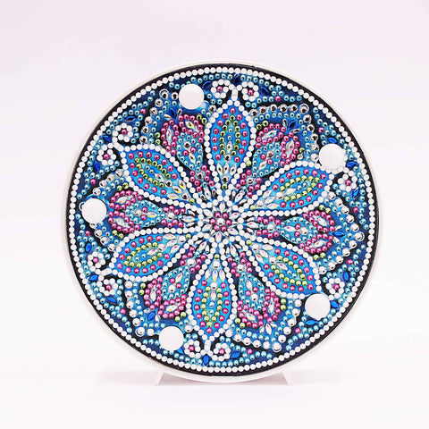 Daisy Mandala  | LED Light | Diamond Painting - Treasure Studios Art