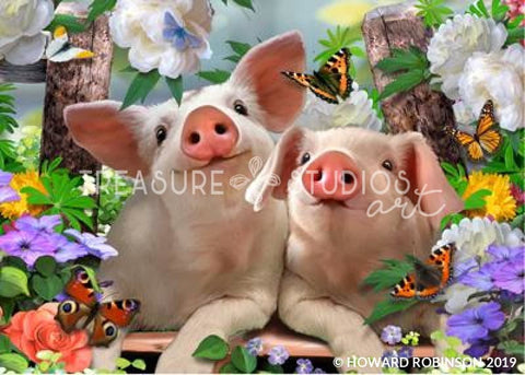 The Piglets by Howard Robinson | Diamond Painting - Treasure Studios Art
