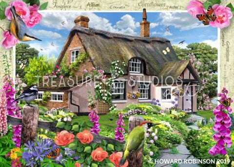 Foxglove Cottage by Howard Robinson | Diamond Painting - Treasure Studios Art