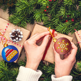 Set of 10 Round Christmas Tree Decorations | Diamond Painting - Treasure Studios Art