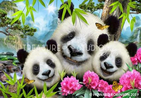 Panda Selfie by Howard Robinson | Diamond Painting - Treasure Studios Art
