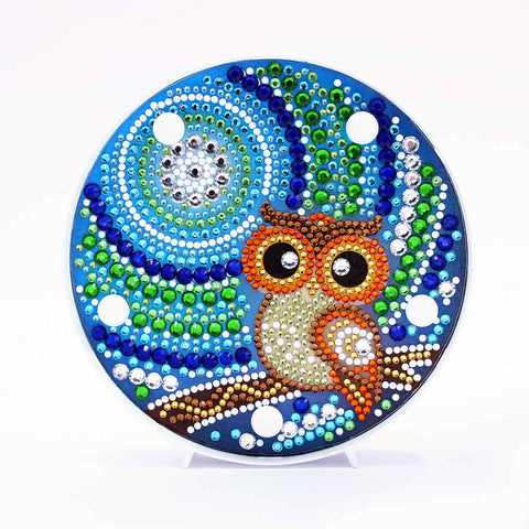 Cute Owl | LED Light | Diamond Painting - Treasure Studios Art