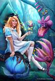 Alice in Wonderland by Anthony Christou | Diamond Painting - Treasure Studios Art