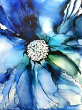 Blue Ink Flower by Ruth West | Diamond Painting