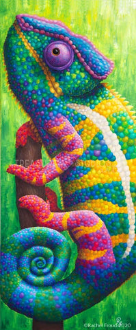 ILLUSION! Chameleon by Rachel Froud | Diamond Painting - Treasure Studios Art