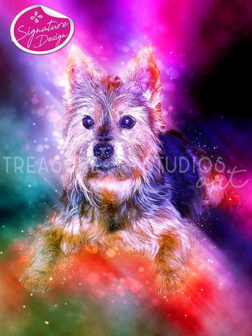 Colorful Yorkshire Terrier | SIGNATURE | Diamond Painting - Treasure Studios Art
