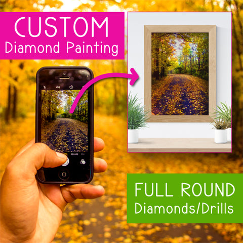 Custom Photo Kit | Full ROUND Drill |  Diamond Painting - Treasure Studios Art