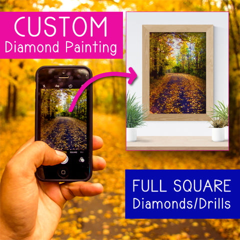 Custom Photo Kit | Full SQUARE Drill | Diamond Painting - Treasure Studios Art