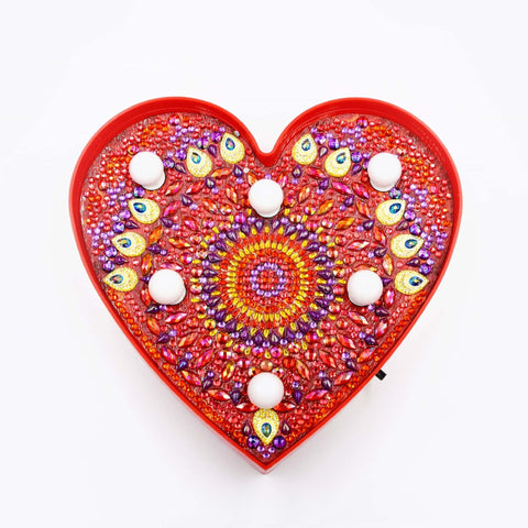 Mandala Heart | LED Light | Diamond Painting - Treasure Studios Art