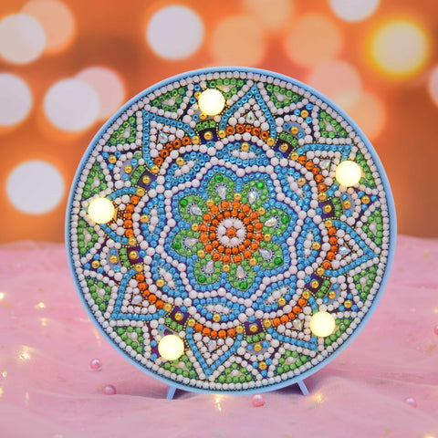 Flower Mandala | LED Light | Diamond Painting - Treasure Studios Art