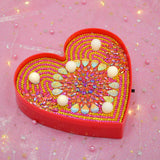 Flower Heart | LED Light | Diamond Painting - Treasure Studios Art