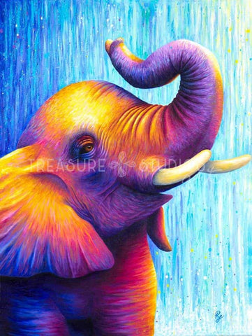 JOY!  Elephant by Rachel Froud | Diamond Painting - Treasure Studios Art