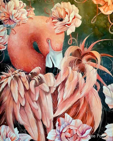 Floral Flamingo by Nicolee Payne | Diamond Painting