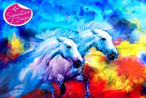 Horse Stampede | SIGNATURE | Diamond Painting - Treasure Studios Art