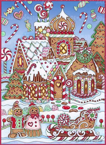 Gingerbread House by Marjorie Sarnat | Diamond Painting