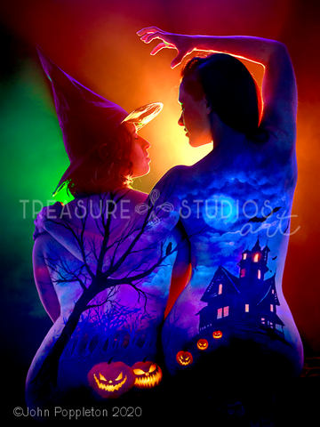 Haunted October by John Poppleton | Diamond Painting - Treasure Studios Art