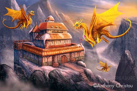 Helias Dragon Haven by Anthony Christou | Diamond Painting