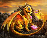Helia The Golden Dragon by Anthony Christou | Diamond Painting - Treasure Studios Art