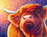 GENTLE SOUL Highland Cow by Rachel Froud | Diamond Painting - Treasure Studios Art