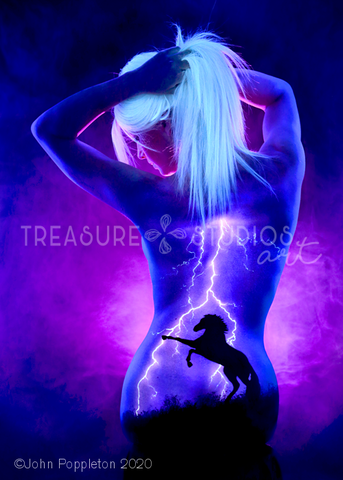 Horse Lightning by John Poppleton | Diamond Painting - Treasure Studios Art