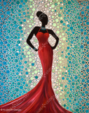 Lady in Red by Anubis Art Designs | Diamond Painting