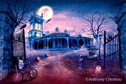 Longest Halloween by Anthony Christou | Diamond Painting - Treasure Studios Art