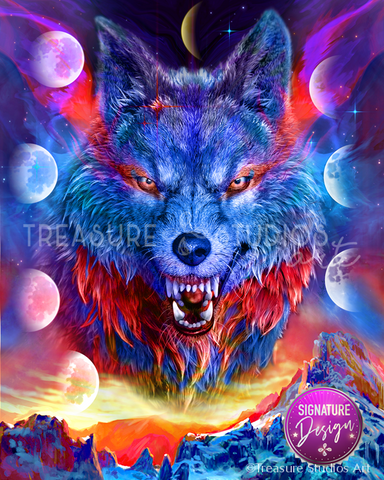 Luna Wolf  | SIGNATURE Design |  Diamond Painting - Treasure Studios Art