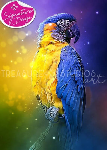 Magical Macaw Parrot | SIGNATURE | Diamond Painting - Treasure Studios Art
