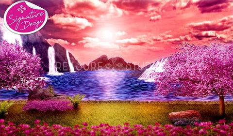 Mountain Blossom Escape | SIGNATURE|  Diamond Painting - Treasure Studios Art