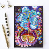 Crystal Butterflies Journal Note Book | Diamond Painting - Treasure Studios Art