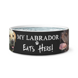 My Labrador EATS Here |  Feed Bowl - Treasure Studios Art