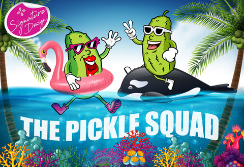 Pickle Squad at the Beach | SIGNATURE |  Diamond Painting - Treasure Studios Art