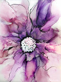 Pink Ink Flower by Ruth West | Diamond Painting