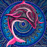 Pink Dolphin y by Anubis Art Designs | Diamond Painting