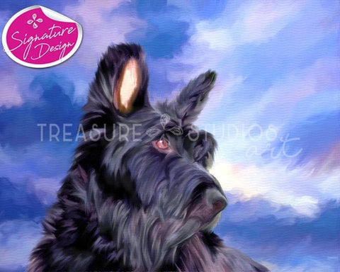 Scottish Terrier Portrait | SIGNATURE | Diamond Painting - Treasure Studios Art