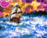 Storm Ship | SIGNATURE |  Diamond Painting - Treasure Studios Art