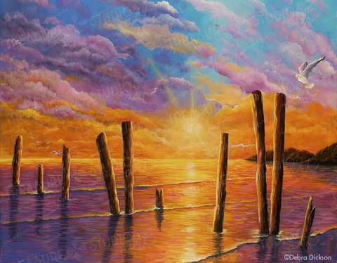 Sunset on the Bay by Debra Dickson | Diamond Painting