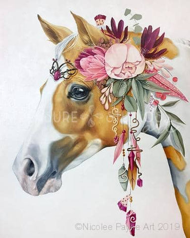 Princess Pony by Nicolee Payne | Diamond Painting - Treasure Studios Art