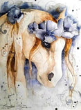 Blue Boho Horse by Nicolee Payne | Diamond Painting - Treasure Studios Art