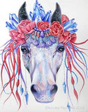 Boho Gems Horse by Nicolee Payne | Diamond Painting - Treasure Studios Art